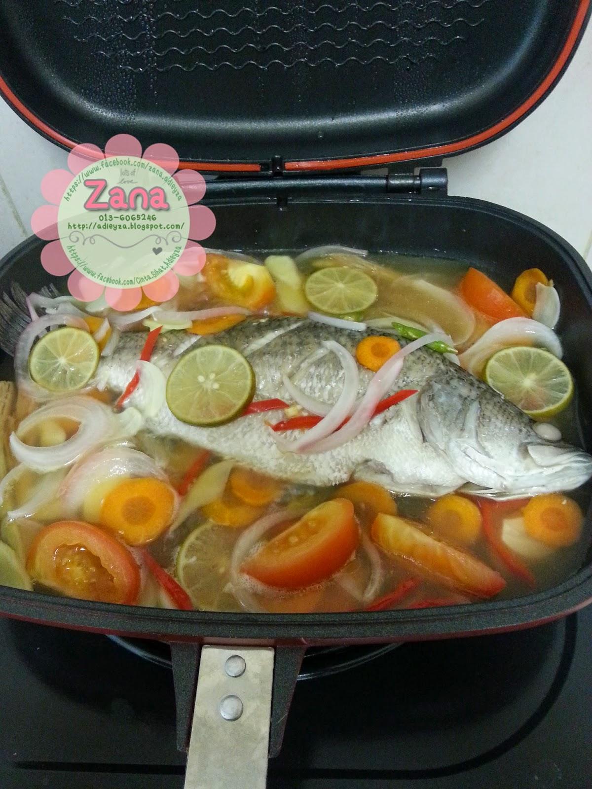Resepi Ikan Siakap Stim Lemon Guna Pemanggang Ajaib