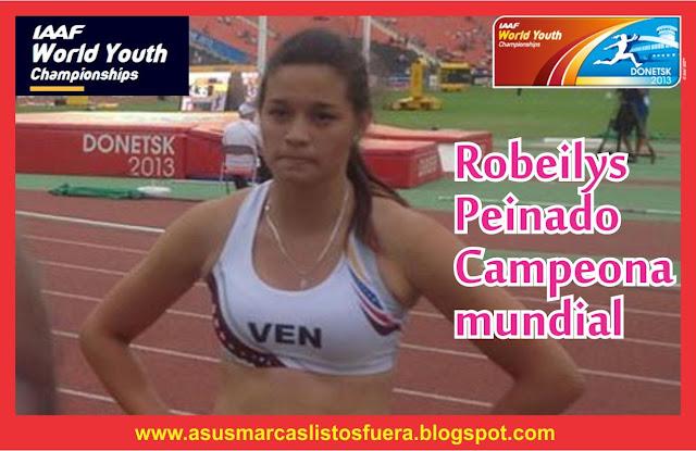 Robeilys Peinado Campeona Mundial Juvenil en Pole Vault