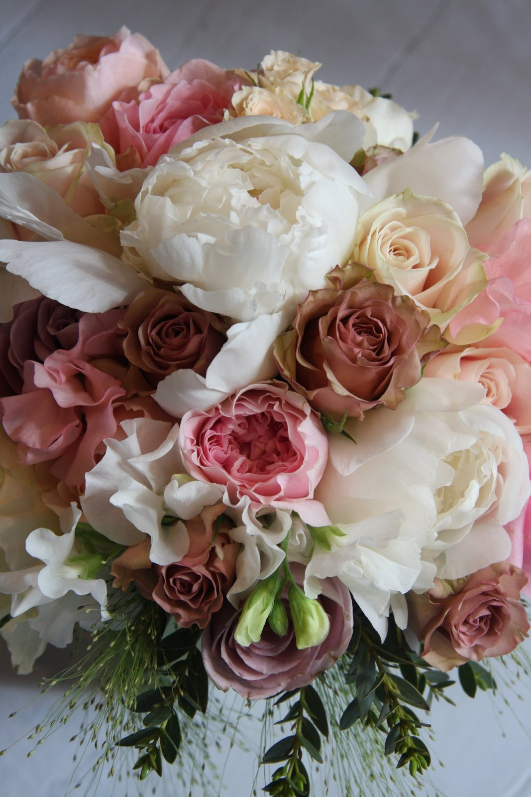 vintage wedding bouquet of peonies english garden roses. Black Bedroom Furniture Sets. Home Design Ideas