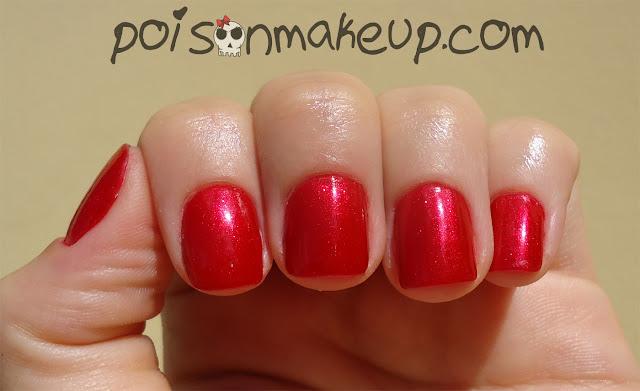Esmalte vermelho Expressão de amor.