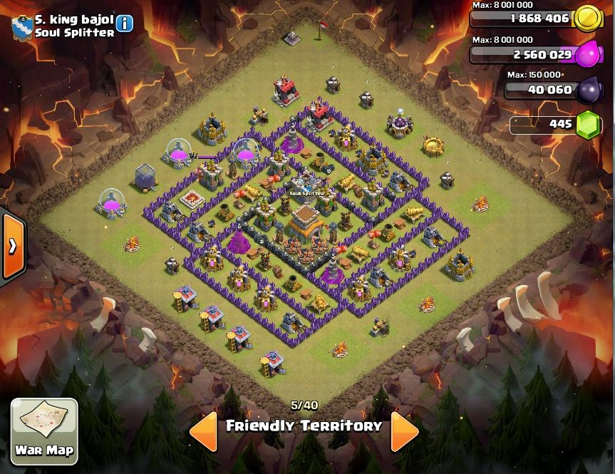 king bajol - COC Clans War Base