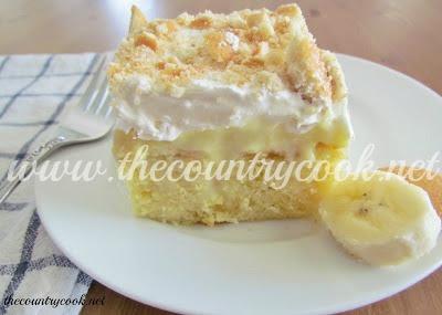 Wayne County Moms Banana Pudding Poke Cake