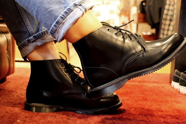 Dr Martens Black Emmeline Boots