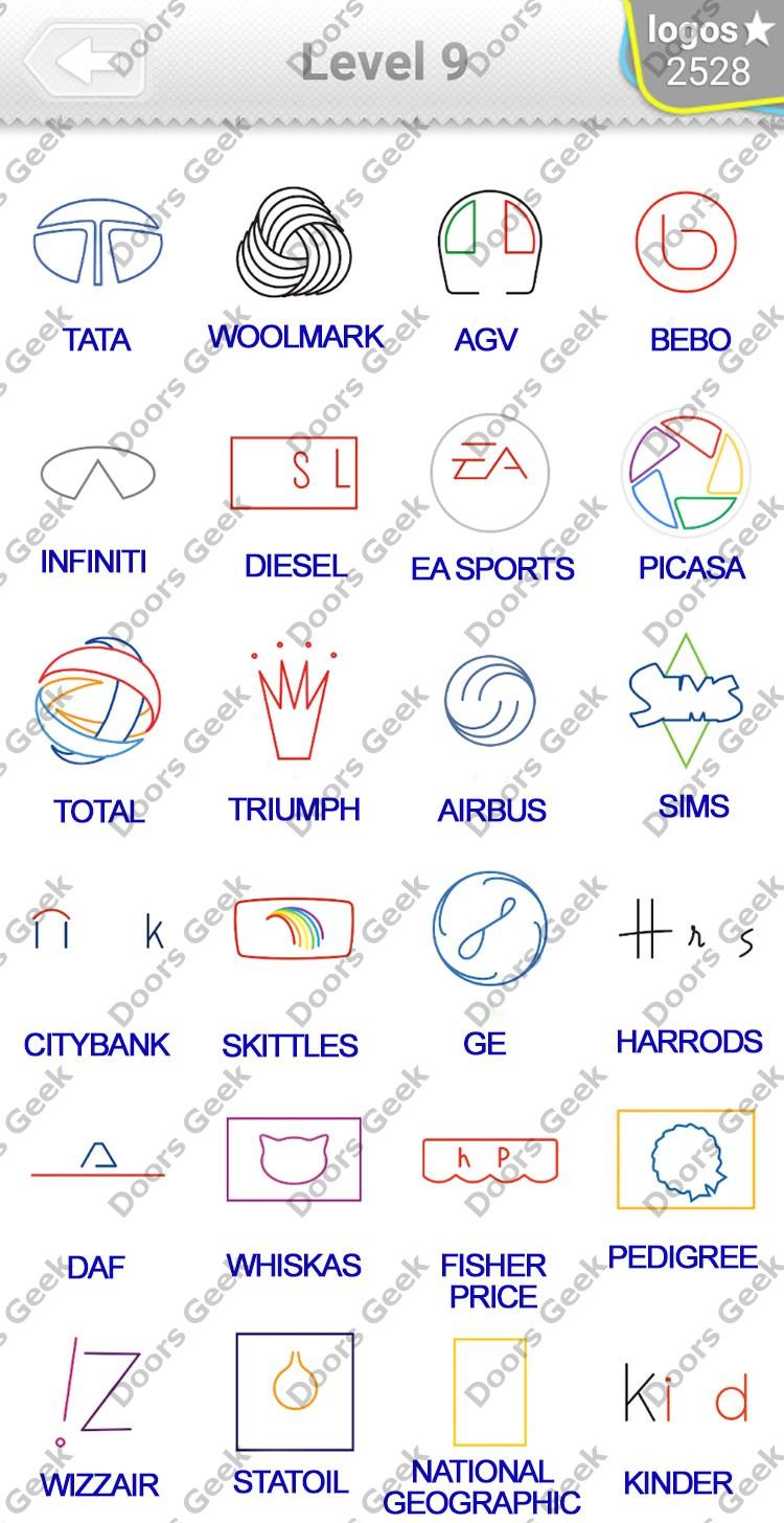 logo quiz minimalist level 9 answers doors geek