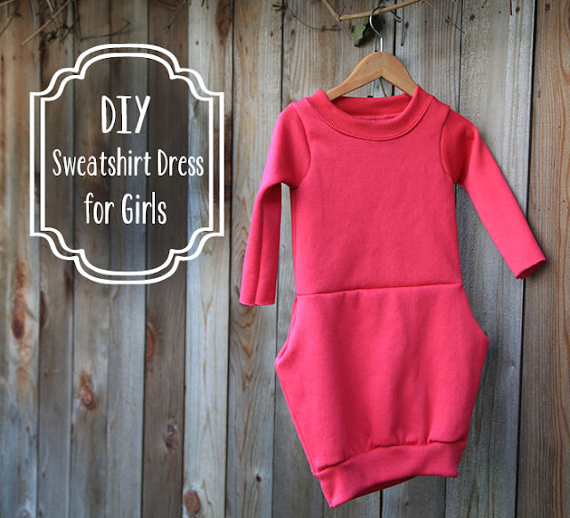 DIY sweatshirt dress