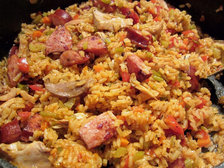 Chicken And Smoked Andouille Jambalaya Recipe — Dishmaps