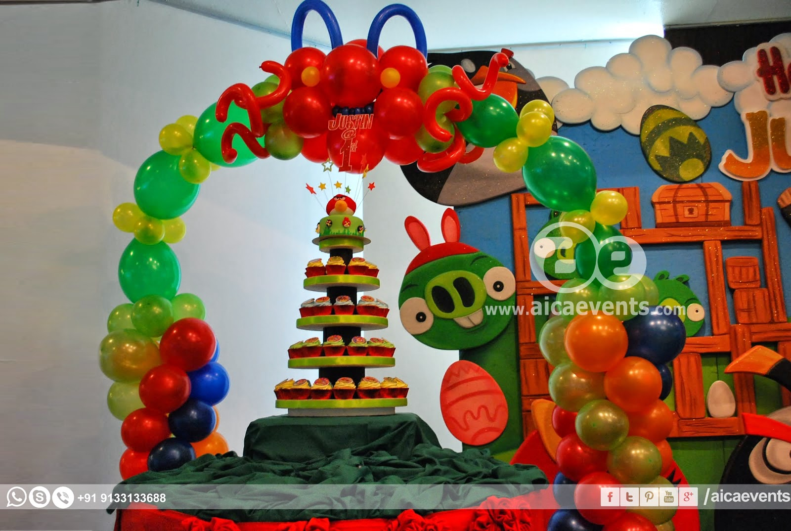 Aicaevents angry bird theme decors for birthday parties for Angry bird decoration ideas