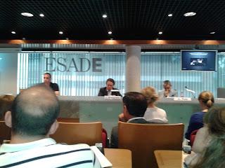 Imagen de la Clausura de DigitalWe: De izda. a dcha.: Jaime Castelló, Javier Busquets y Juan Luis Polo. Imagen propia del autor