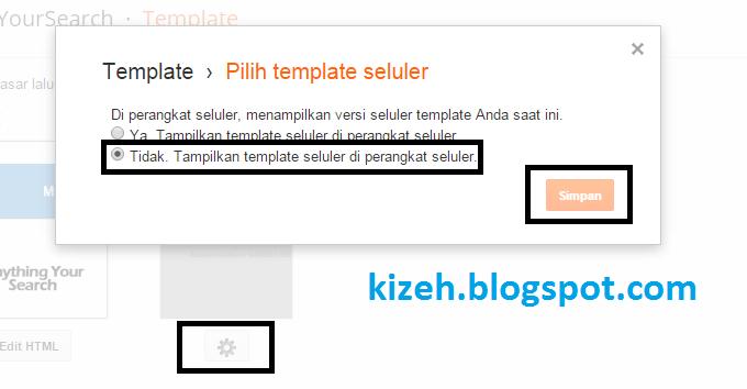 Disable tampilan mobile friendly standar pada blogger