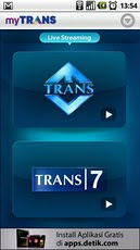 myTrans tayangan telivisi dari genggaman anda!