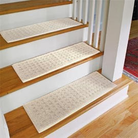 Use carpet stair treads to avoid injuries at home