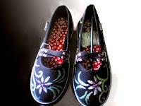 Sepatu Lukis onix 275 Cewek Rp 125 000,spatu lukis batik,spatu lukis batik