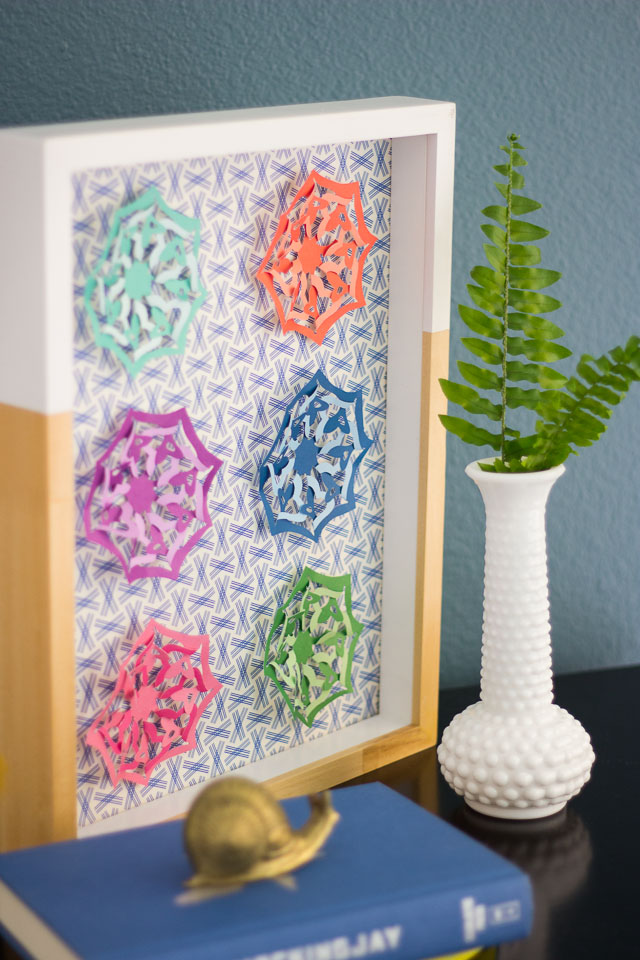 DIY Wall Art -made in minutes with a paper punch! || Design Improvised blog