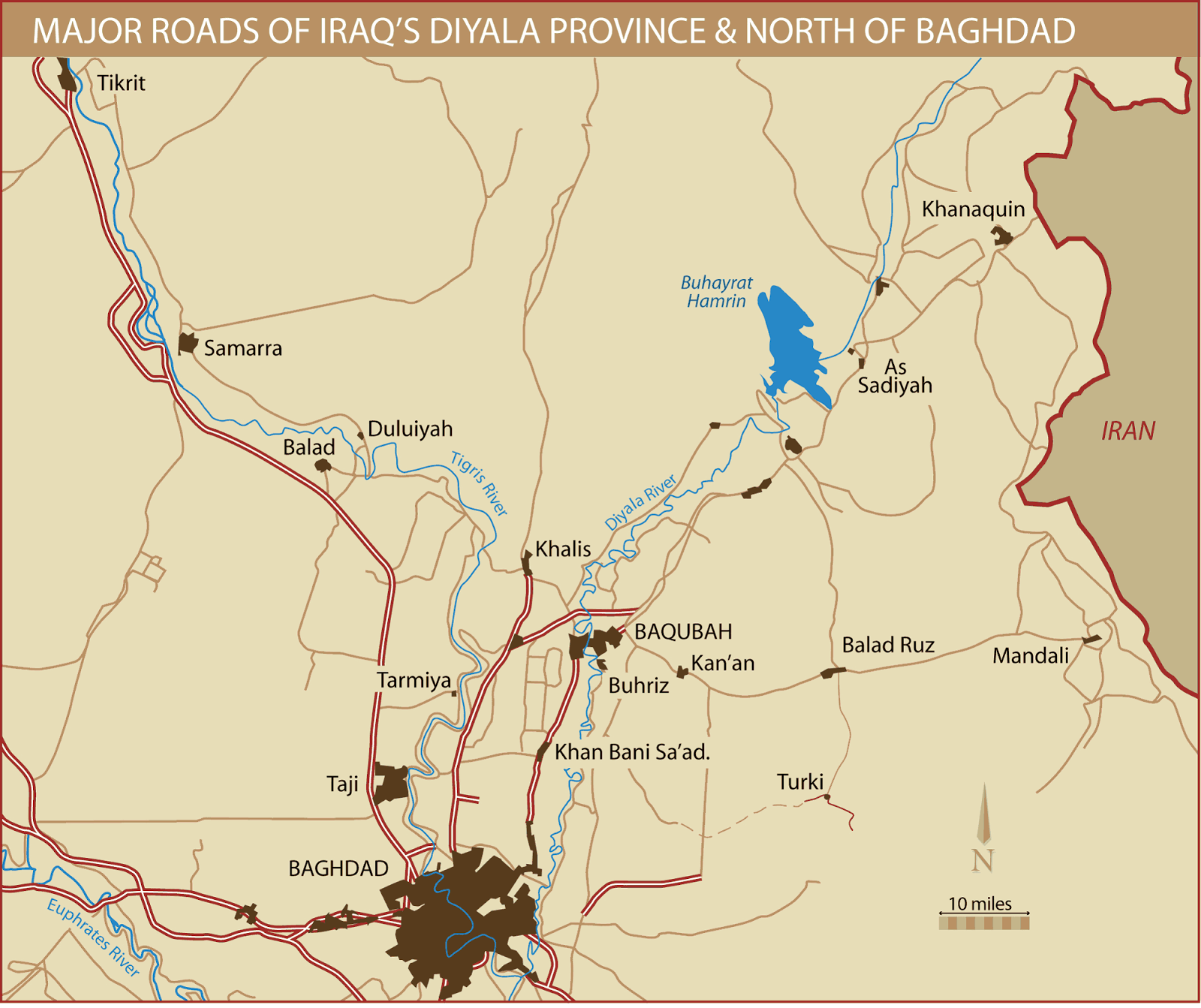 MUSINGS ON IRAQ Iraqs Diyala Province An Insurgent Stronghold – Map of Iraq Provinces