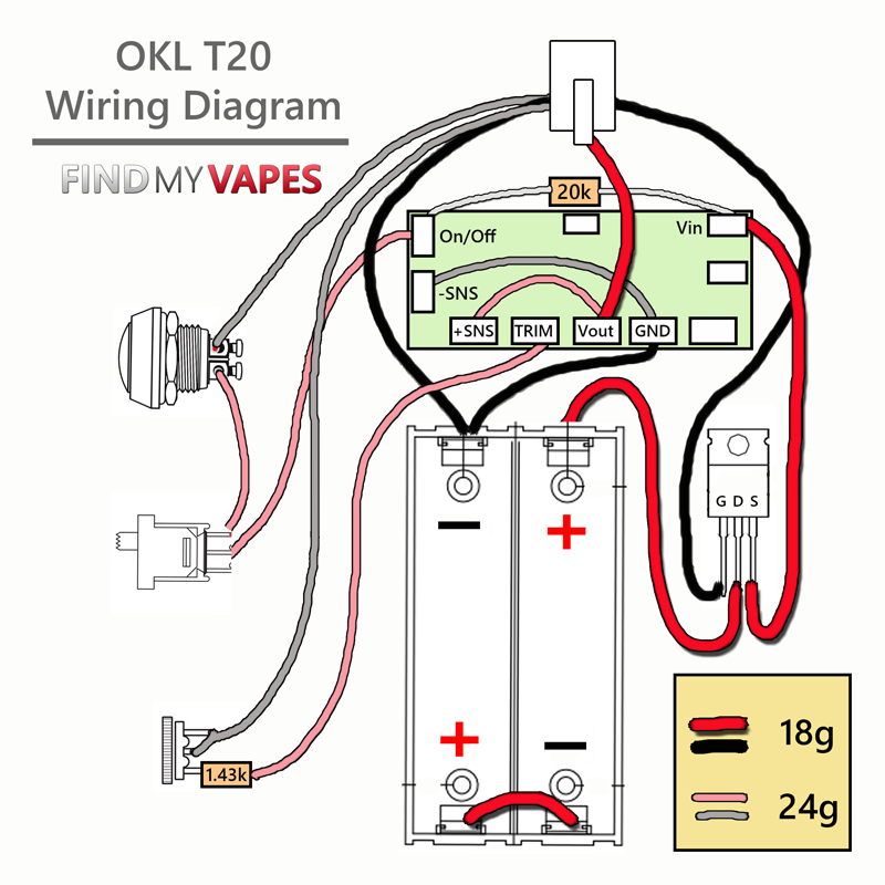 OKL T20 Wiring Diagram allienvape laik 2b box mod Series Speaker Wiring Diagram at honlapkeszites.co