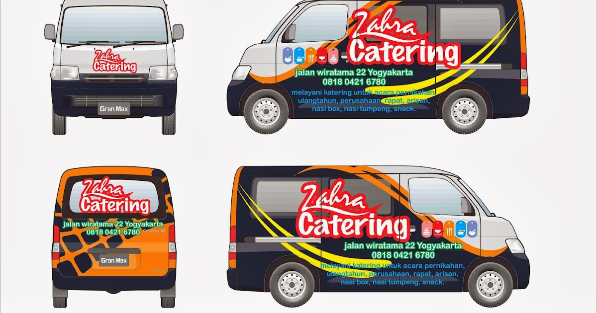 gnp design: Body Stripe Daihatsu GranMax Zahra Catering