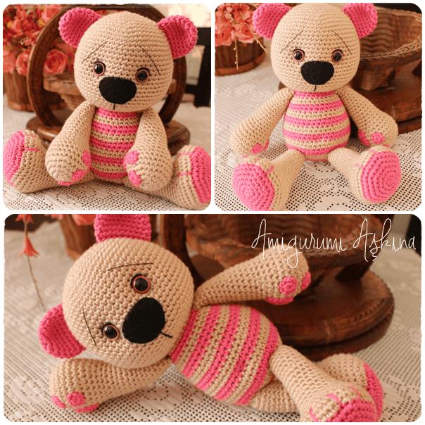 Amigurumi Yapimi Tarifi : Amigurumi Sevimli Ayicik-Amigurumi Bear Tiny Mini Design
