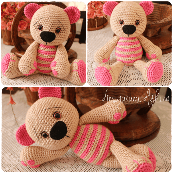 Amigurumi Beard : Amigurumi Sevimli Ayicik-Amigurumi Bear Tiny Mini Design