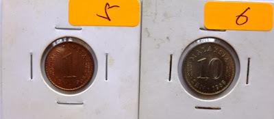 Malaysia 10 Cents 1968