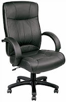 LE9406 Eurotech Odyssey Black Leather Executive Chair