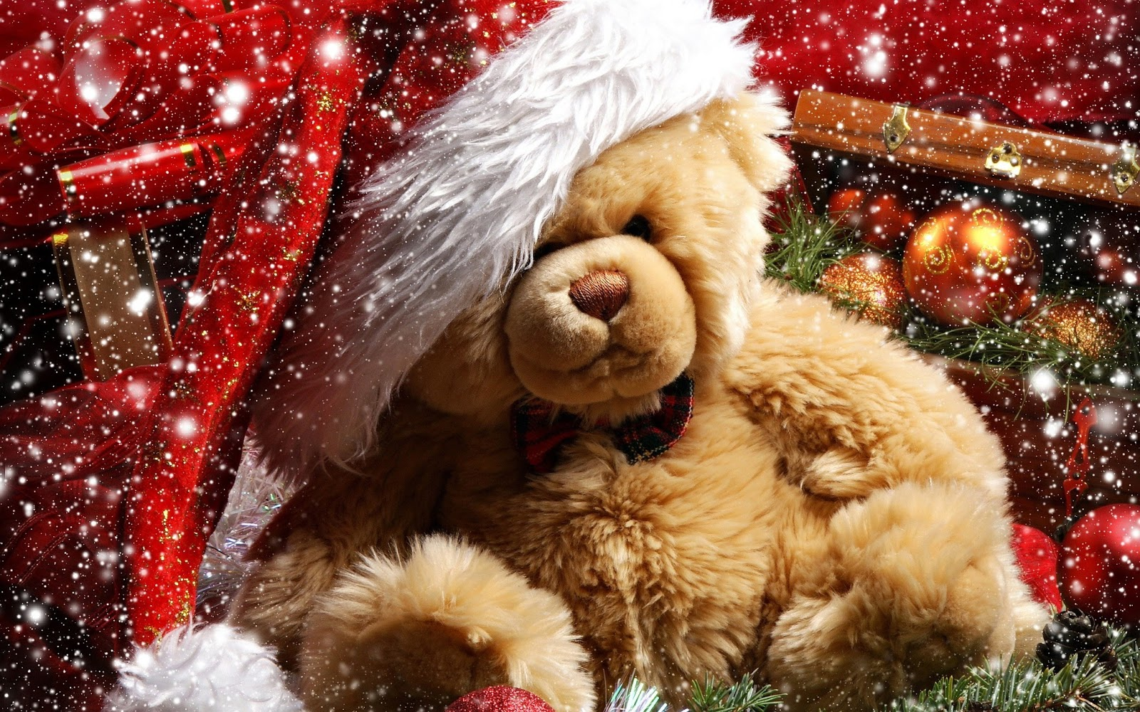 christmas teddy bear wallpaper photo2