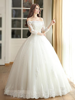 http://www.tbdress.com/product/Off-The-Shoulder-Ball-Gown-3-4-Length-Sleeves-Lace-Wedding-Dress-11415350.html