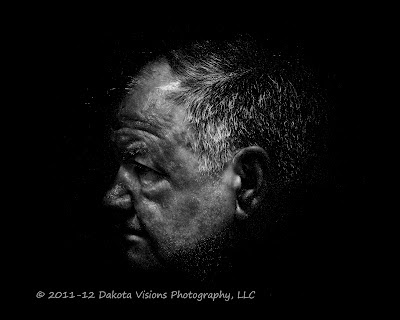 Perfect Photo Suite Post Processing Black and White Portrait by Dakota Visions Photography LLC