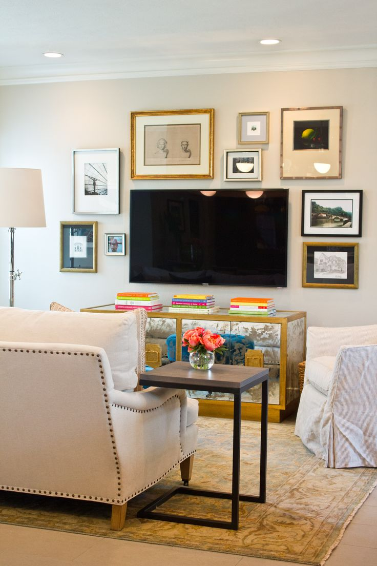 Mirrored Tv Cabinet Living Room Furniture Tips For Decorating Around The Tv From Thrifty Decor Chick