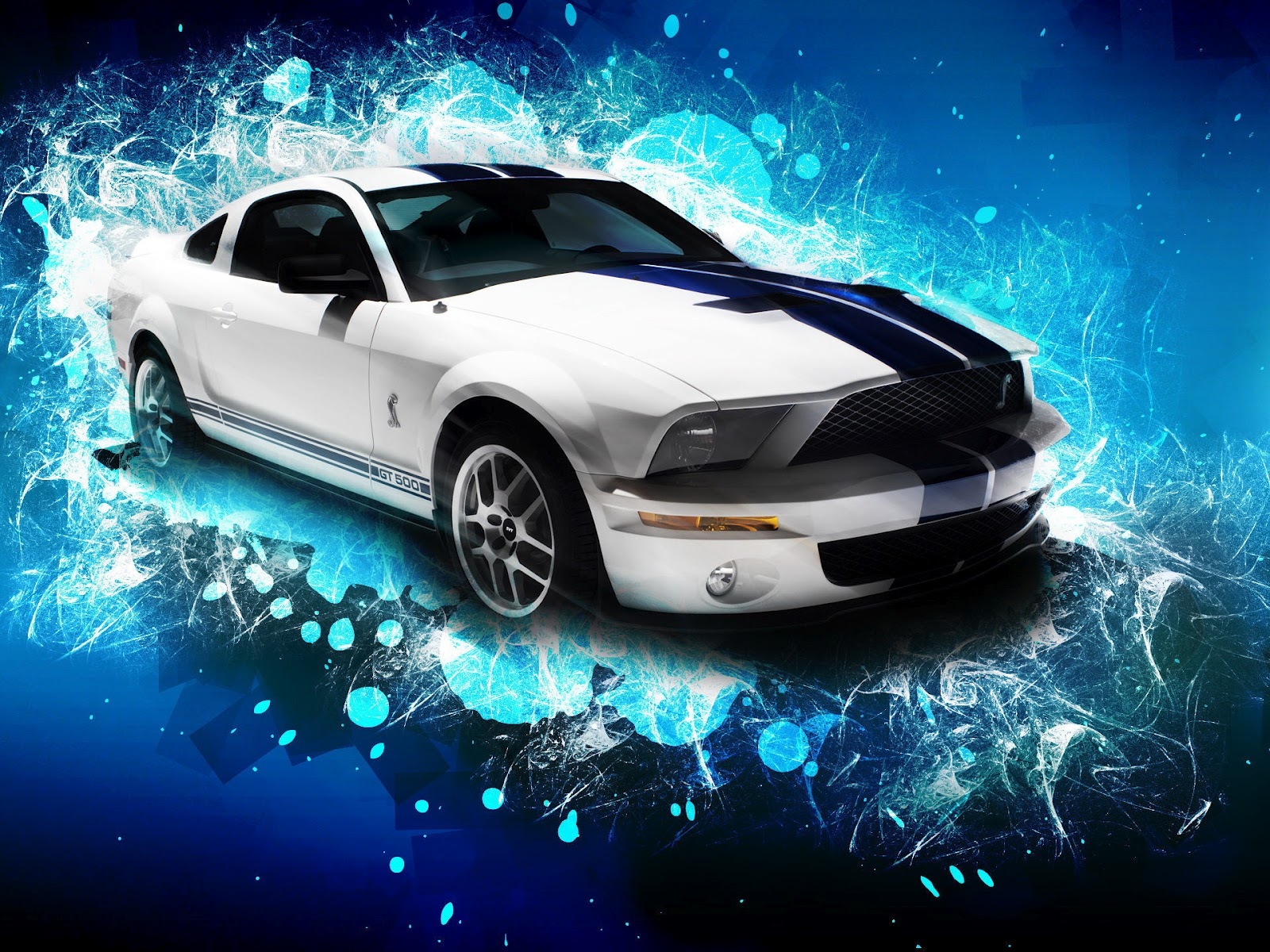 1230carswallpapers: Blue Mustang Gt Wallpaper