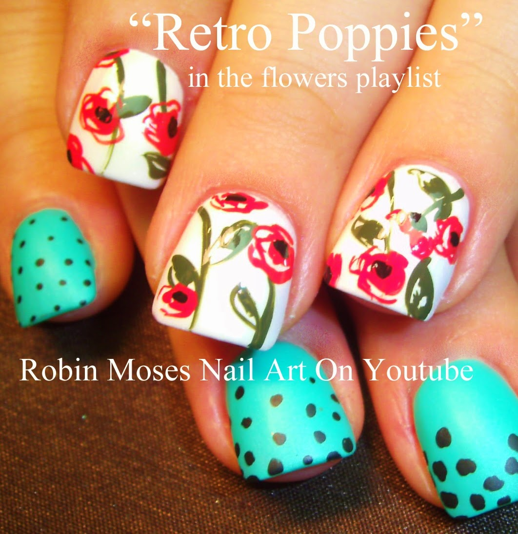 Nail Art By Robin Moses Poppy Nails Spring Nails Cute Spring