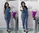Outfit Post: Blue printed Jumpsuit