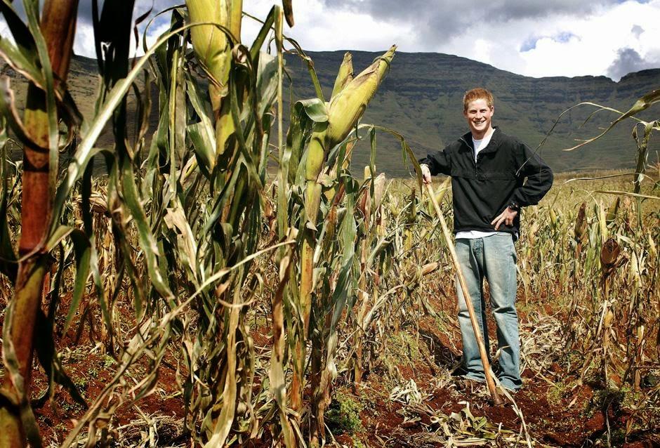 принц Гарри с Лесото в Южной Африке.