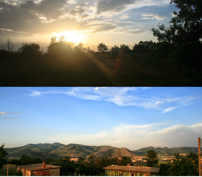 Sunset two ways