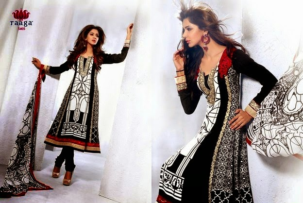 Indian Semi Casual Dresses 2014 by Raaga