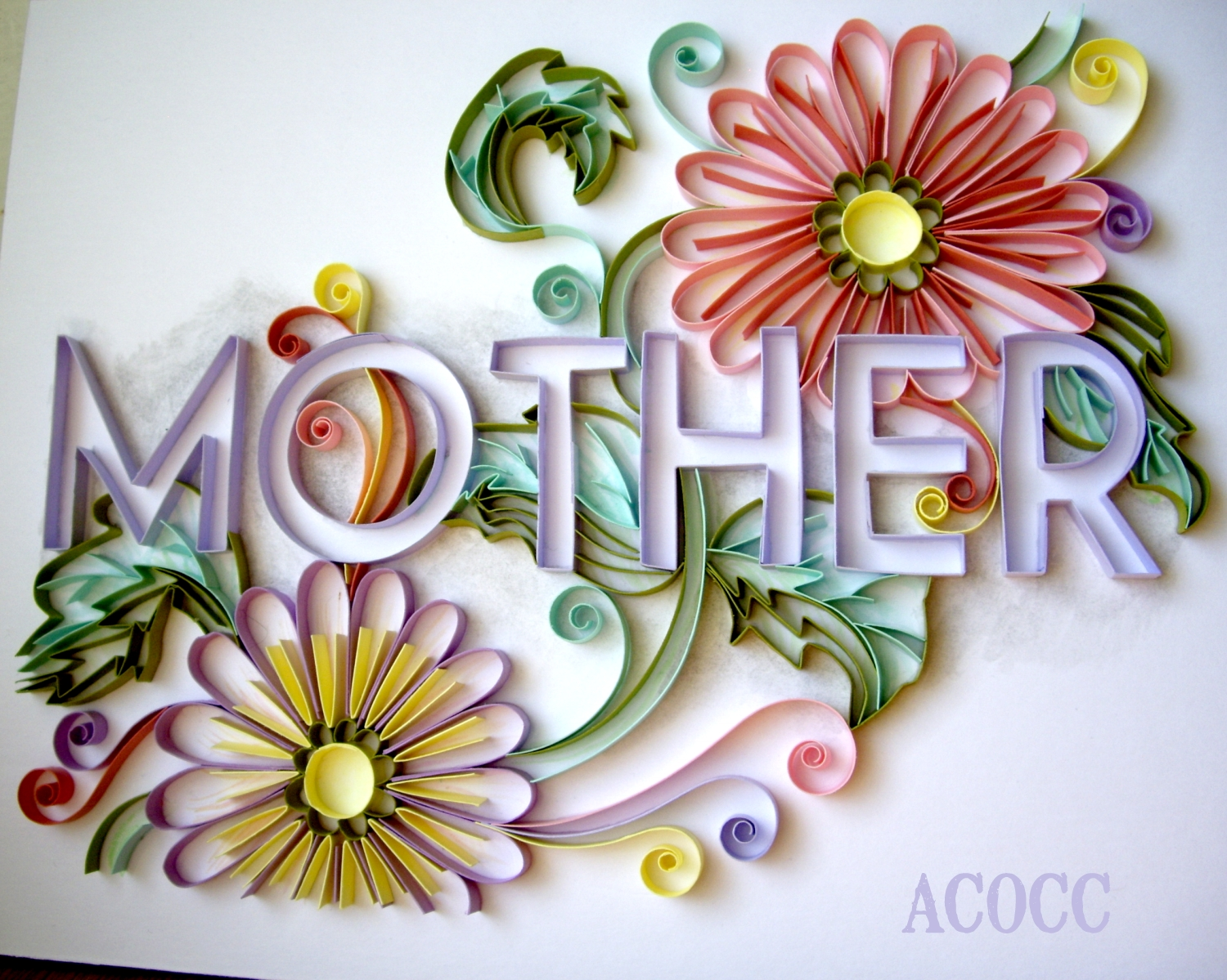 A can of crafty curiosities quilling for mother 39 s day for Quilling paper art