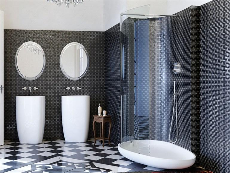 Douche noir et blanc ~ Solutions pour la décoration intérieure de ...