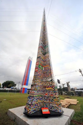 Today world news brazil claims world s tallest lego tower - Lego brick caravan a record built piece by piece ...