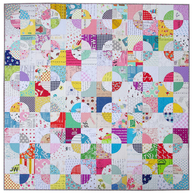Red Pepper Quilts: Drunkard's Path Quilt - A Finished Quilt