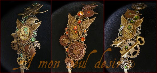 Bronze Headdress Steampunk Headband Clock Work Watchwork WheelWork Jewellery Hair Jewelery