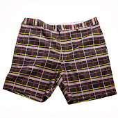 Plaid Black Shorts