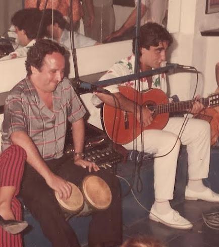 Con mi amigo Fernando Esteso en el Prvée de L´Atlantida de Sitges en 1994/95