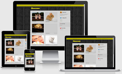Showcase Wallpaper Blogger Templates