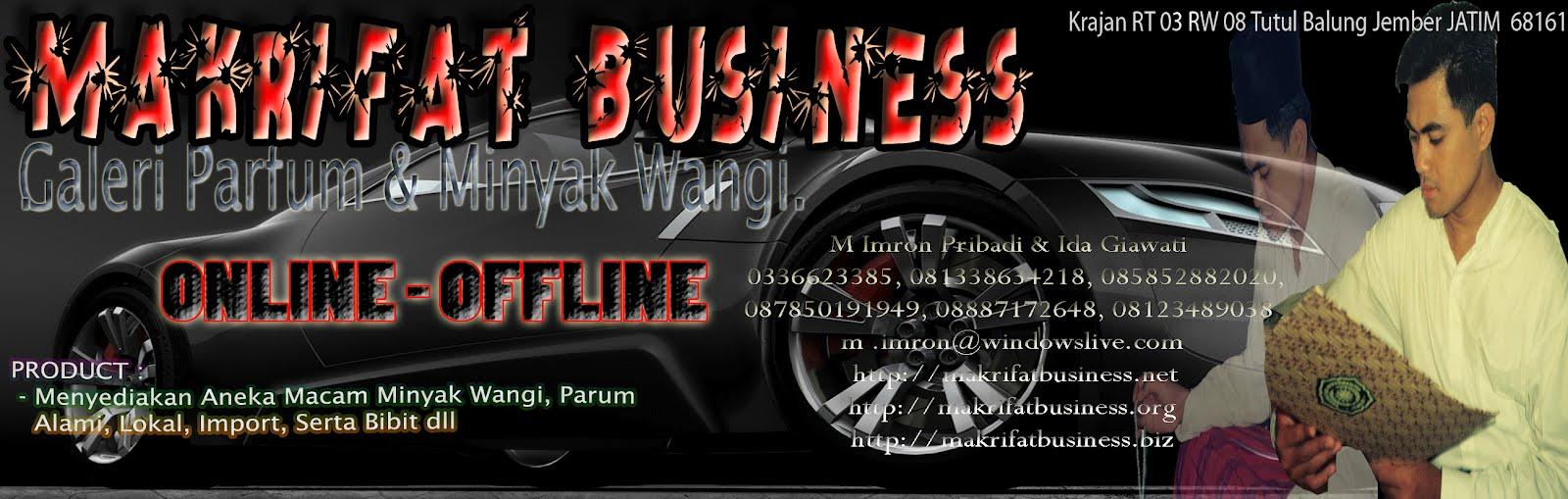 MAKRIFAT BUSINESS - Galeri MINYAK WANGI - PARFUM desa TUTUL Balung Jember - INDONESIA