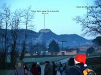 Vista del Roc Gros després de passar el pont de la C-17