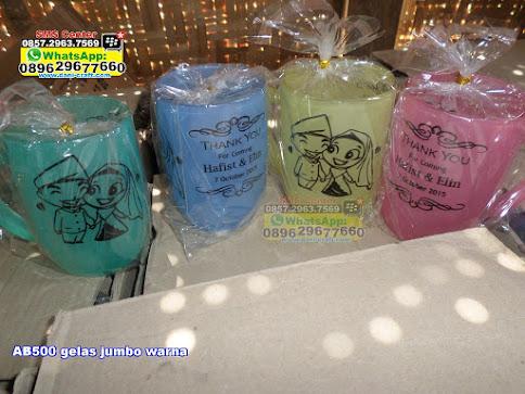 gelas jumbo warna unik