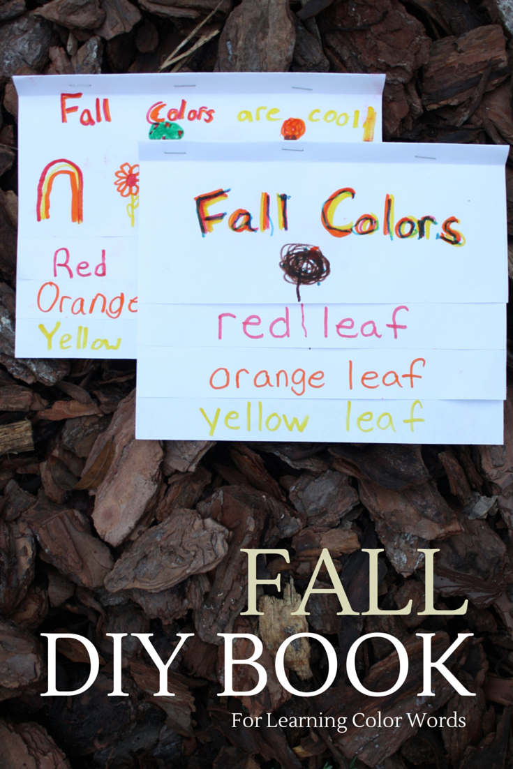 Make a FALL Color Word Book for preschool and grade school learning: sight words, color words, science, fall, deciduous trees, adjictives