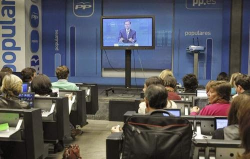 """Una de las """"ruedas de prensa"""" de Rajoy"""