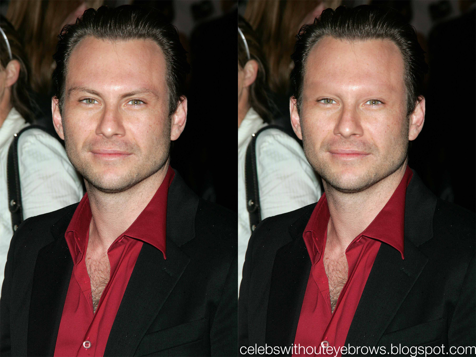 Celebs Without Eyebrows Christian Slater