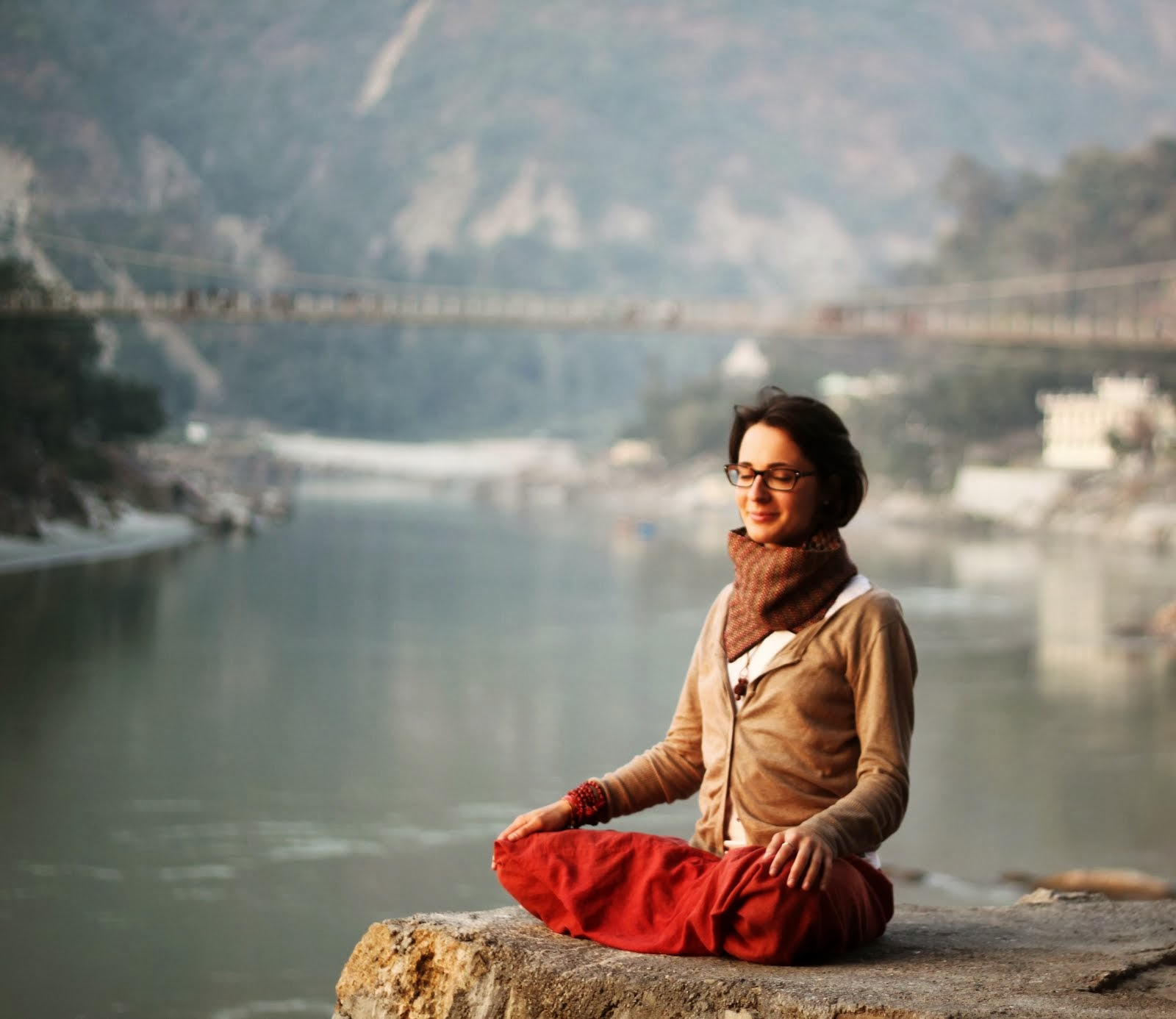 Indian peacefulness in Rishikesh, November 2012.