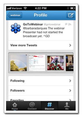 Affichage des contenus multimédias dans la version mobile de Twitter